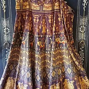 Vintage Indian Wrap Skirt